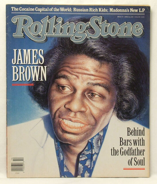 James Brown ROLLING STONE MAGAZINE Issue 549 Madonna April 6 1989 VERY RARE!