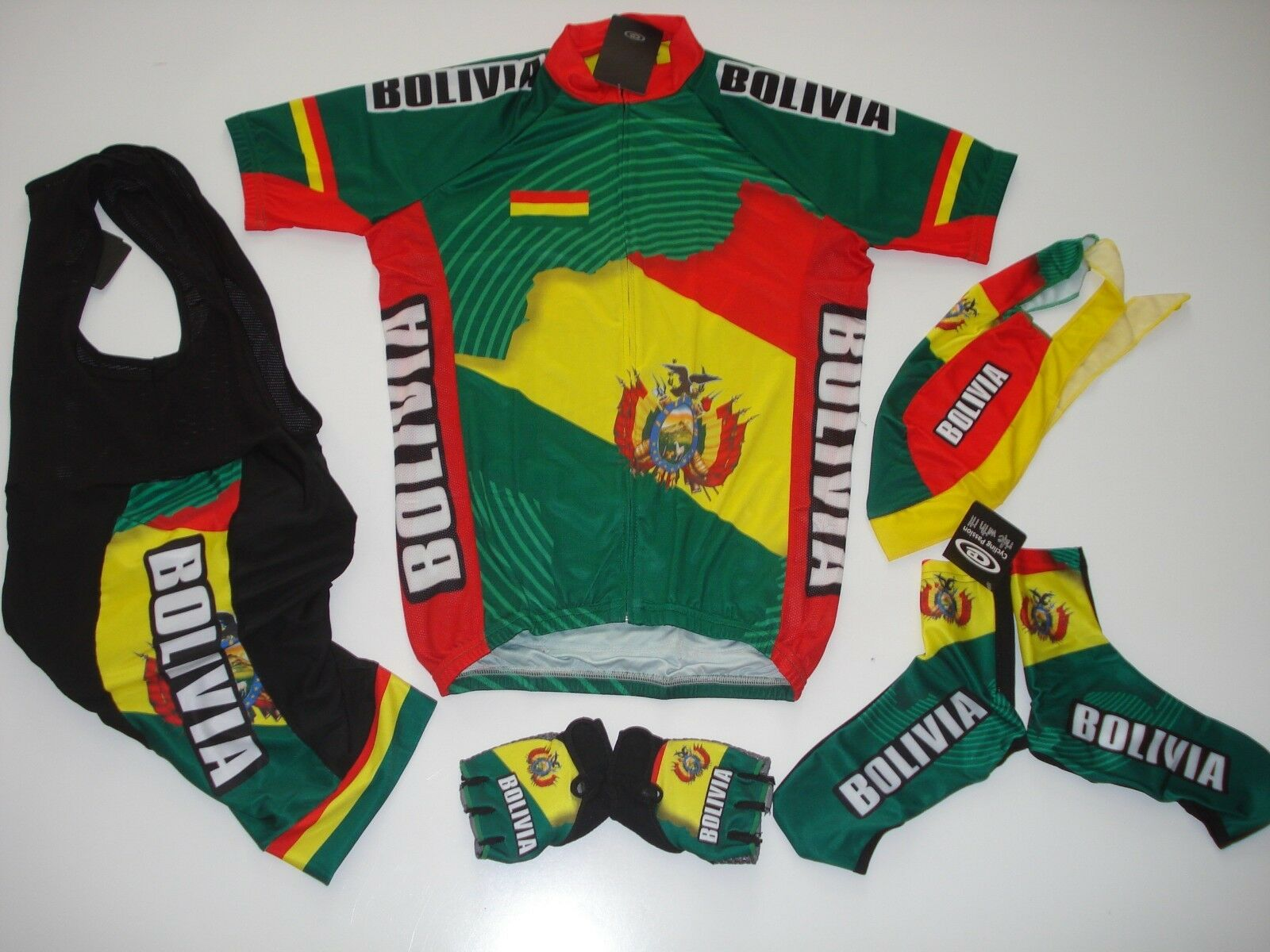 New size L - BOLIVIA Team Cycling Flag Road  Bike Set Jersey Bib Shorts G s +  high-quality merchandise and convenient, honest service