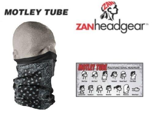 Zan HeadGear Motley Tube Facemask BLACK PAISLEY Avail Snowboarding Mask Coldgear