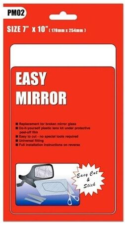 Universal Car Door PM02 Wing Mirror Glass Replacement 7x10 * Pack of 2