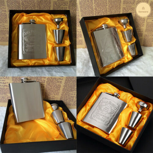Stainless Steel Hip Flask Wine Mug Wisky Bottle Box Mini Drinkware fathers Gift