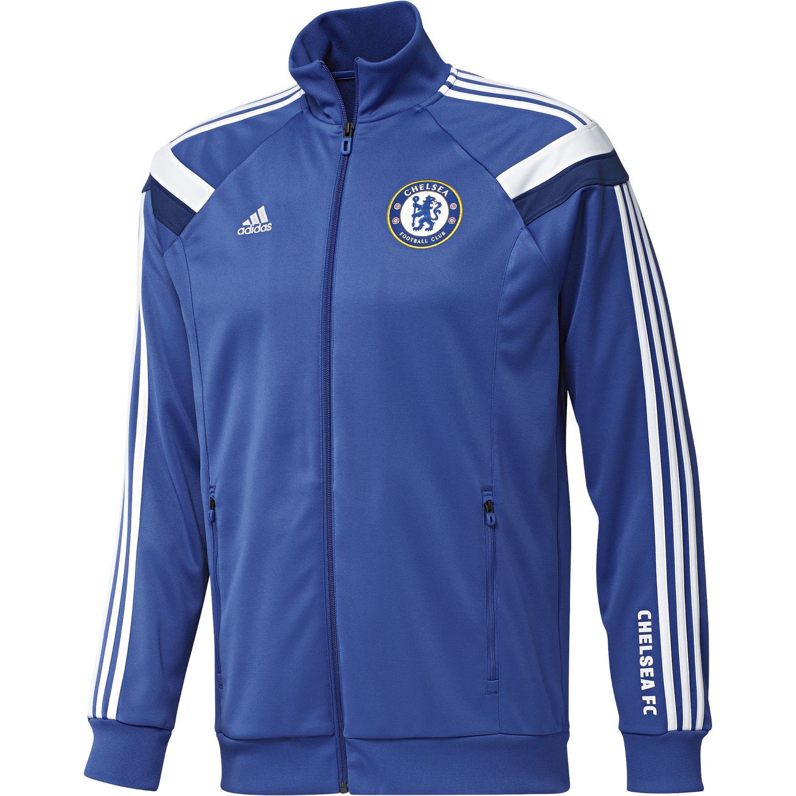 Adidas Chelsea FC Himno Chaqueta Chándal Azul blancoo