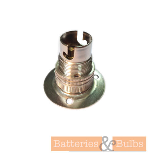 Fixed 3 Hole Batten Lamp Holder SBC with Shade RingBrass Chrome Bronze