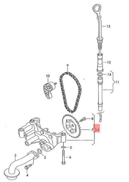 Genuine Oil Pump Vw Audi Beetle Cabrio Golf R32 Gti Rabbit Jetta