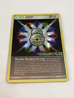 Double Rainbow Energy 87//106 STAMPED Reverse Holo RARE EX Emerald Pokemon Card