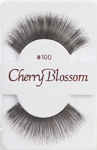 6ecca5f89a4 CHERRY BLOSSOM EYELASHES MODEL# 100 -100% HUMAN HAIR BLACK 1 PAIR ...