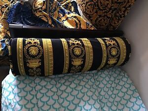Details About Gianni Versace Medusa Pillow Cushion With Insert Tag Sofa Bed Discontinued Sale