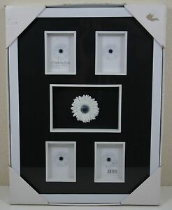 New Target Modern Home Shadow Box 5 Openings 2 Size White Frame