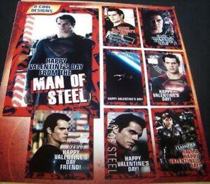 Superman-Man-of-Steel-Valentine-039-s-Day-Cards-32-Count-Movie-DC-Comics-Warner-Bros