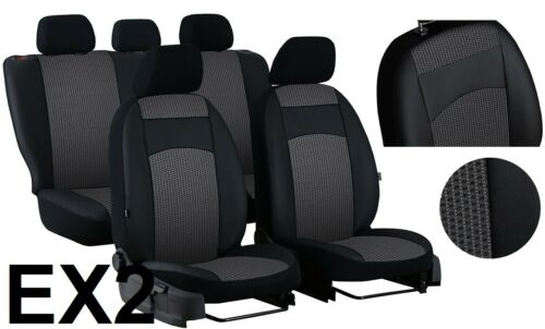"SKODA OCTAVIA Mk2 2004-2013 ECO LEATHER /& FABRIC /""ROYAL/"" SEAT COVERS CUSTOM MADE"