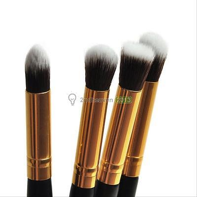 Pro 4Pcs Makeup Cosmetic Tool Eyeshadow Powder Foundation Blending Brush Set