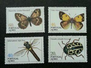 SJ-Portugal-Butterflies-And-Insects-1985-Dragonfly-Bug-stamp-MNH