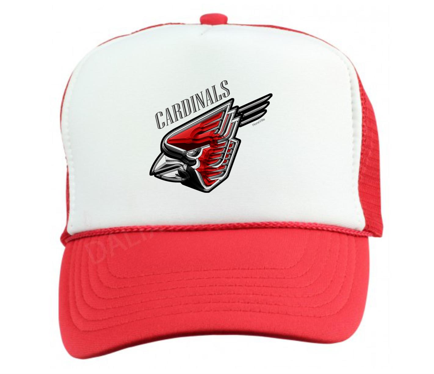Trucker Hat Cap Foam Mesh School Team Mascot Cardinals Metal Metal Cardinals d32af4