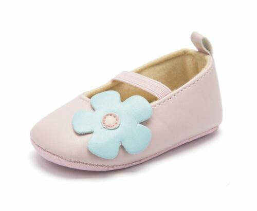 Infant First Step Shoes Newborn Baby Girl Pram Shoes Mary Janes Floral Trainers