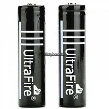 2x 6000mAh Black 18650  3.7volt LI-ION Rechargeable Battery for UltraFire EHE8