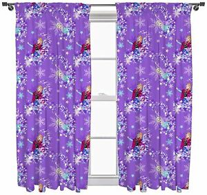 Disney-Frozen-039-Transparent-039-Ready-Made-Curtains-54-034-or-72-034-Drop-Matches-Bedding