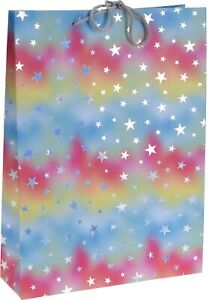 Set-Of-6-Large-Wine-Bags-Multi-Coloured-Stars-Christmas-Gift-Bag-Gift-Tote
