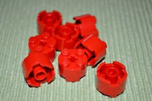 6 2x2 Red Rounded Top Bow Bricks Brick ~ Lego ~ NEW ~ Castle