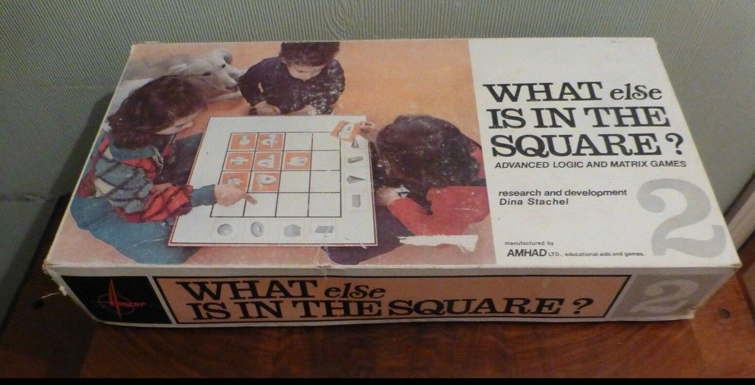 Vintage What else is in the Square Logic Matrix Educational Game. By AMHAD LTD.