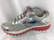 351eced9a92bd Brooks Ghost 8 Edition Womens Size 9.5 M Silver Pink Blue Running Shoes