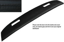 BLACK STITCH TOP DASH DASHBOARD LEATHER SKIN COVER FITS JAGUAR SERIES 3 XJ12