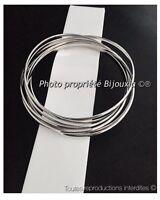 Bracelets Semainier Joncs 6,5mm Argent Massif 925/1000 Rhodié Bijoux Femme