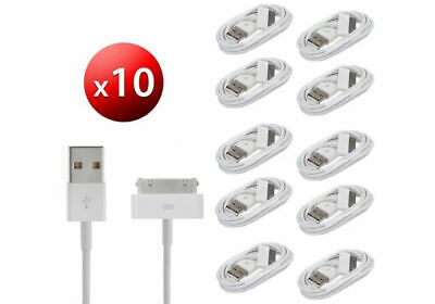 10x Charging Cable Charger Lead for Apple iPhone 4 4S 3GS