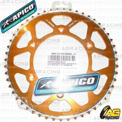 2019 Nieuwste Ontwerp Apico Evolite Orange Rear Sprocket 51t 520 For Ktm Sx 250 1991