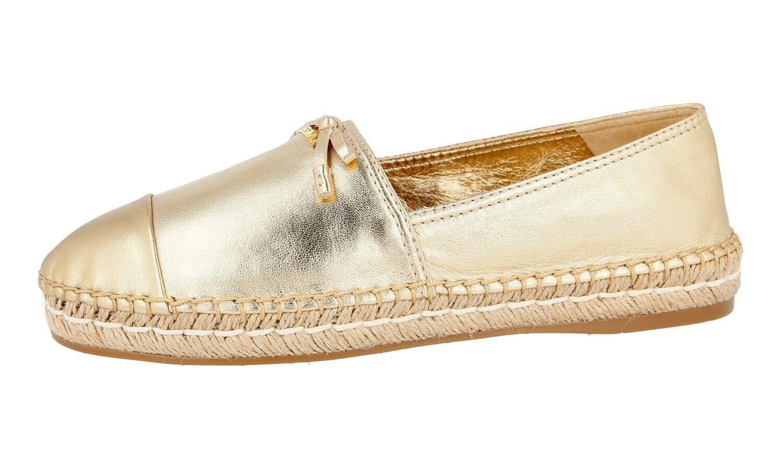 Authentique De Luxe Chaussures PRADA Espadrilles 1S740F PLATINUM NEUF NEUF NEUF US 10 EU 40 40,5 UK 7 751c36