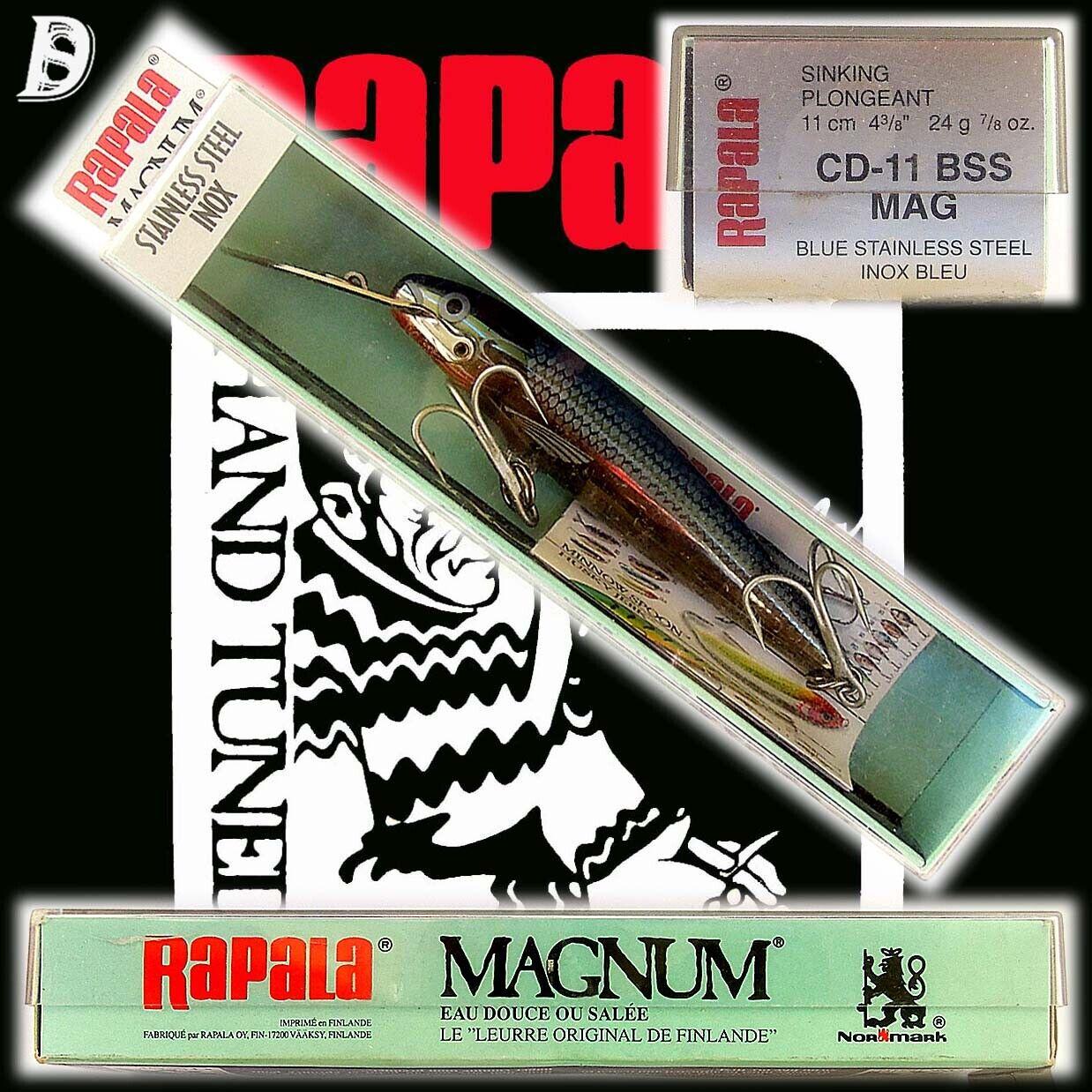 VINTAGE Rapala Magnum conto alla rovescia 11cm INOX BSS Finlandia NIB estremamente raro