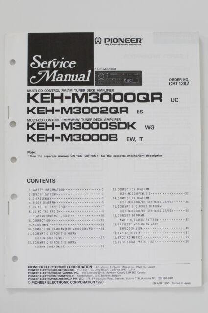 Pioneer Keh M3002qr Original Service Manual