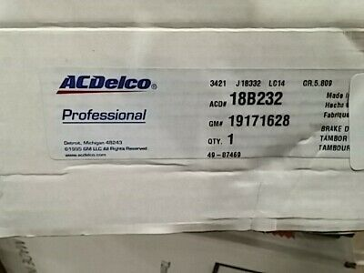 ACDelco 18B237 Professional Rear Brake Drum Assembly