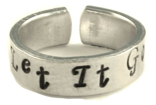 Frozen Inspired Let It Go A Hand Stamped Aluminum Ring