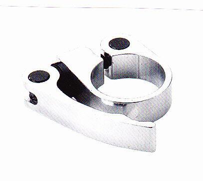 collarino reggisella in alluminio silver con sbloccaggio 31,8