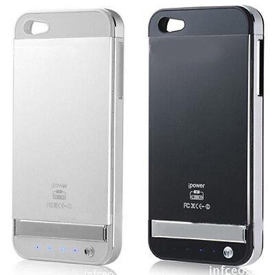3000mAh Coloful Aluminium Alloy Backup Battery Power Case Cover For iPhone SE 5S