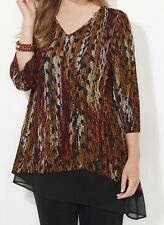 CATHERINES FEATHER FLOW TOP - PLUS SIZE 3X (26/28W)