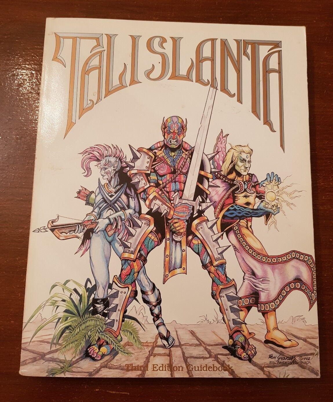 Talislanta-TERZA EDIZIONE guida turistica di Regolamento e guida di campagna-Core Book RPG RARO