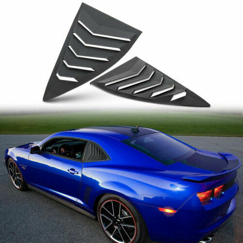 Rear/&Side Window Louver Sun Shade Cover Matte Black fits 2010-2015 Chevy Camaro