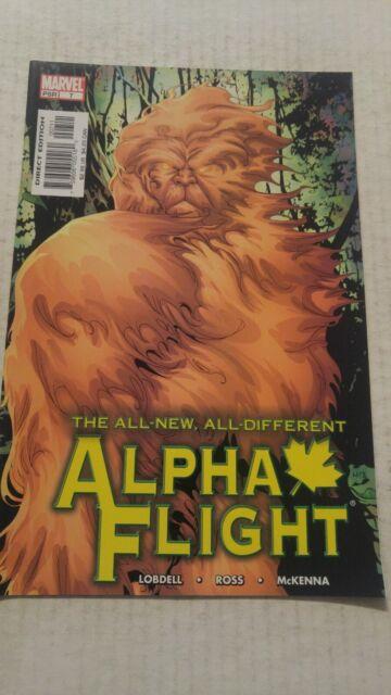Alpha Flight #7 November 2004 Marvel Comics Lobdell Ross Mckenna