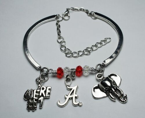 Crimson Tide ~ University Alabama inspired ~ Charm Charms Bracelet