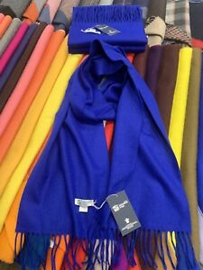 100-Pure-Cashmere-Scarf-Johnstons-of-Elgin-Made-in-Scotland-Royal-Blue