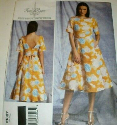 Vogue Sewing Pattern 1502 Tracy Reese Flattering Full Length Misses Dress NEW