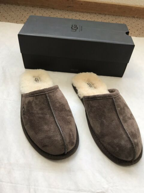 NEW UGG Australia Men's Scuff Suede Slipper 5776 Espresso Brown Sz 9 NWT
