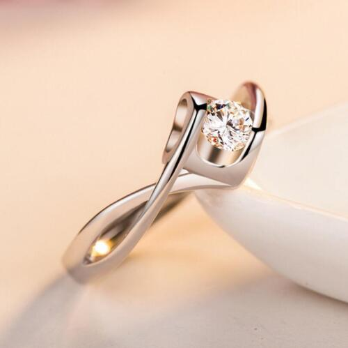 Micro-inlay AAA Cubic Zirconia Love *Heart* 925 Sterling Silver Adjustable Ring