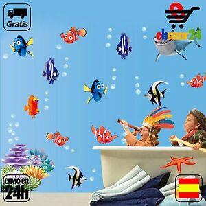 Detalles De Vinilo Decorativo Nemo Dory Buscando A Tiburon Dibujos Baño Niños Envío Gratis