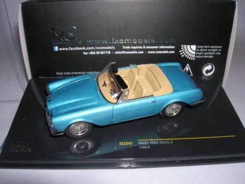 1:43 Artikel CLC247 Ixo Facel Fega Facel 6 Modell 1964 hell blau metallic