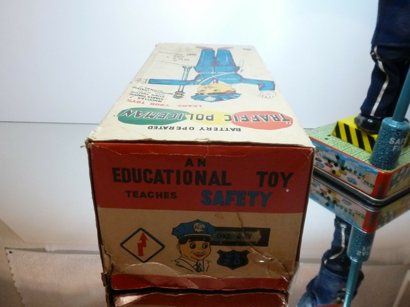 A1 JAPAN - MR. TRAFFIC POLICEMAN battery operated - H34.5cm H34.5cm H34.5cm RARE - GOOD IN BOX ee96ce