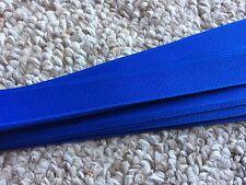 Grosgrain Hat Band Pony Tail Hair Band Craft Ribbon Pkg 25 Straight Edge - Royal