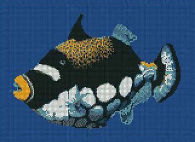 "Clown Fish Complete Counted Cross Stitch Kit 10/""x 6.75/"""