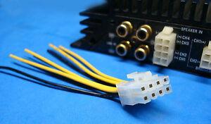 alpine 8 pin plug wire harness amplifier amp speaker input us image is loading alpine 8 pin plug wire harness amplifier amp
